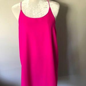 Truth Hot Pink Tank Dress. Size L.